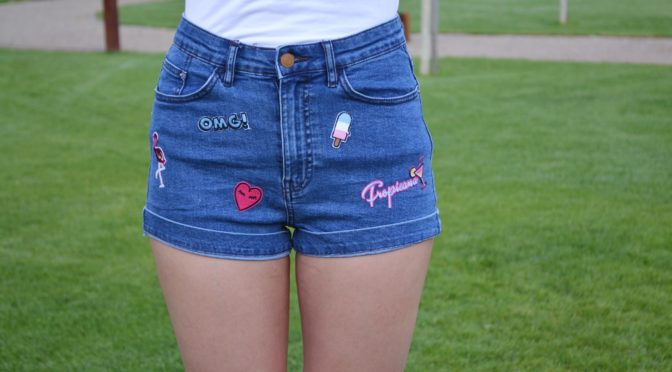 DIY: Jeansshorts mit Patches